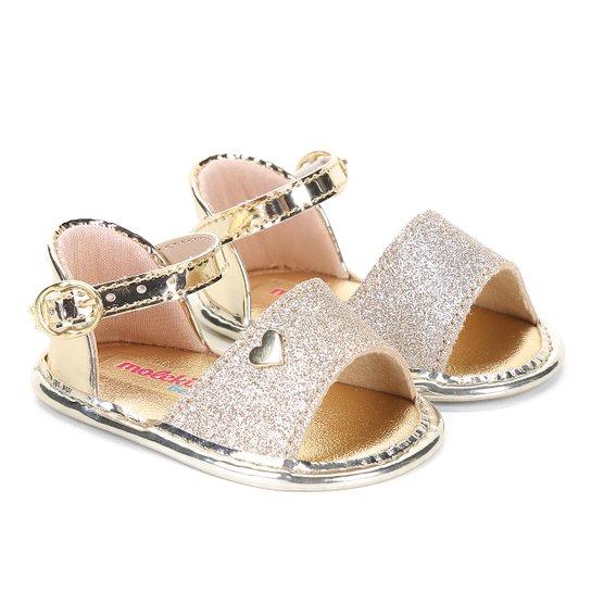 60f0c52e9 Sandália Infantil Molekinha Glamour Glitter Feminina - Compre Agora ...
