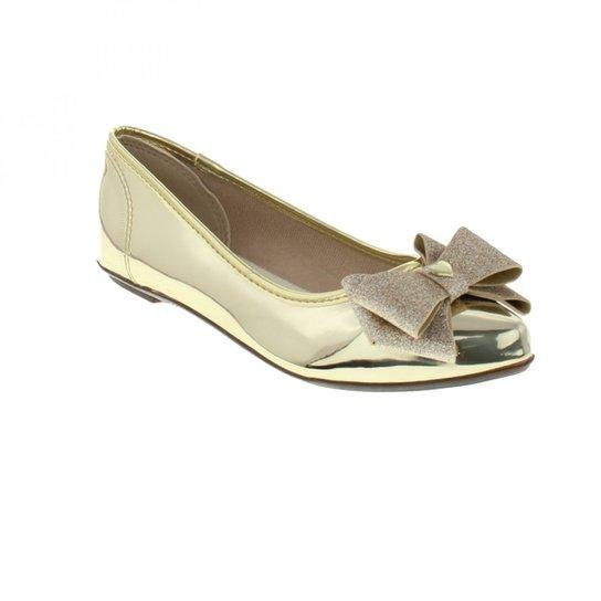 48708af1fa Sapatilha Molekinha Verniz Menina - Dourado - Compre Agora