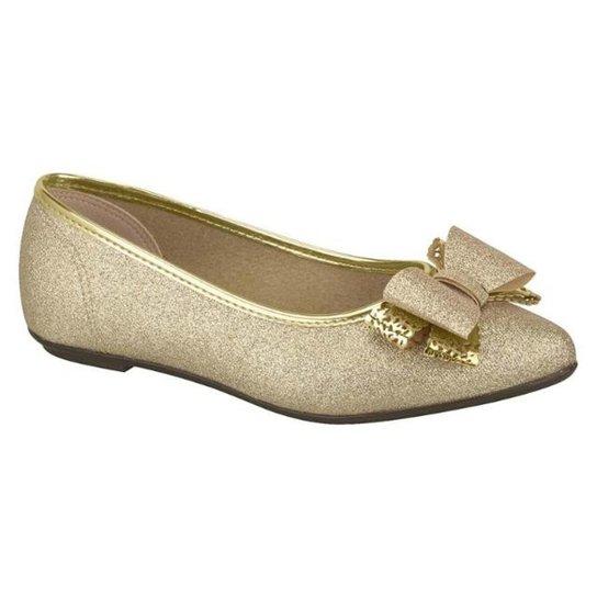 75c9924939 Sapato Infantil Molekinha Glitter Feminino - Dourado - Compre Agora ...