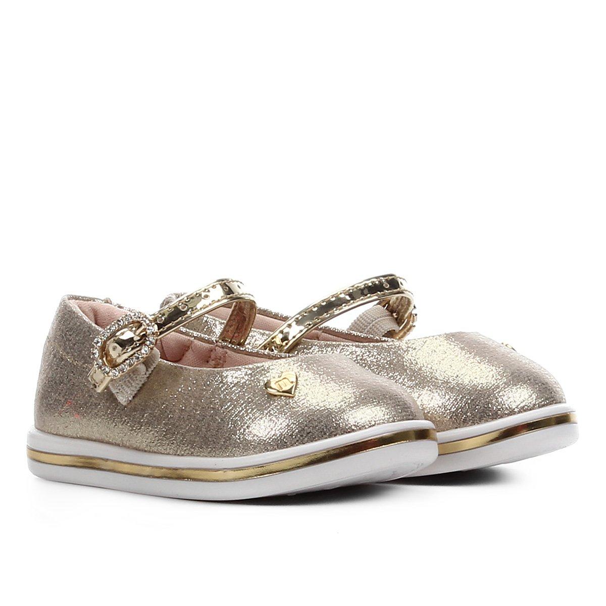 Sapato Infantil Molekinha Metalizado Feminino