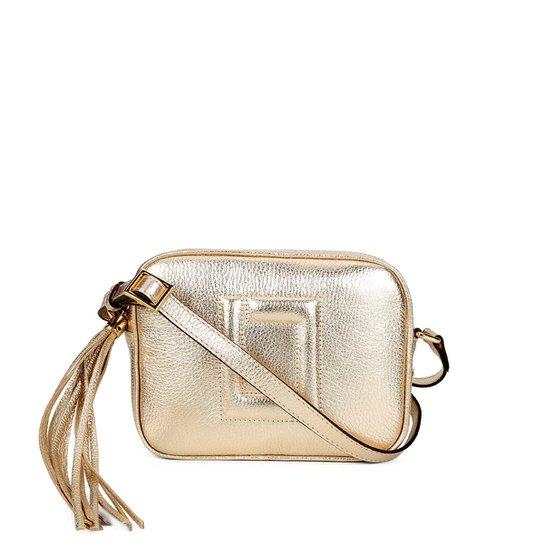 2c535f4d9404fb Bolsa Couro Luz da Lua Mini Bag Barbicachos Feminina - Dourado