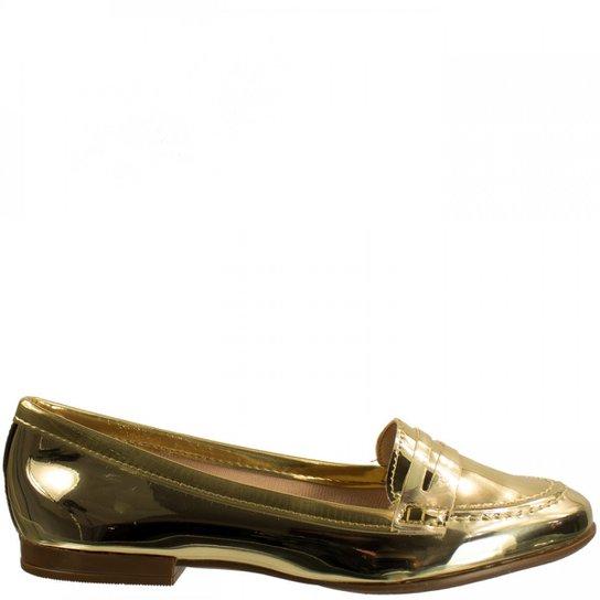 48818aada Sapatilha Feminina Moleca Metal Glamour 5281.204 - Dourado | Zattini