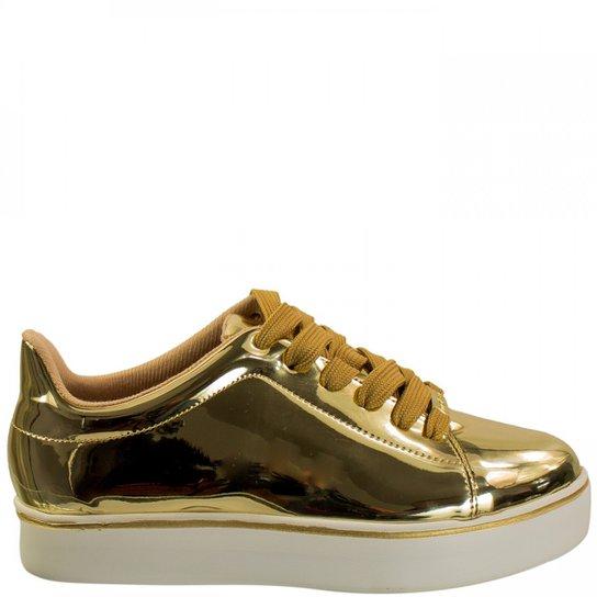 b7f2d9d77 Tênis Feminino Moleca Metal Glamour 5284.307 - Dourado | Zattini