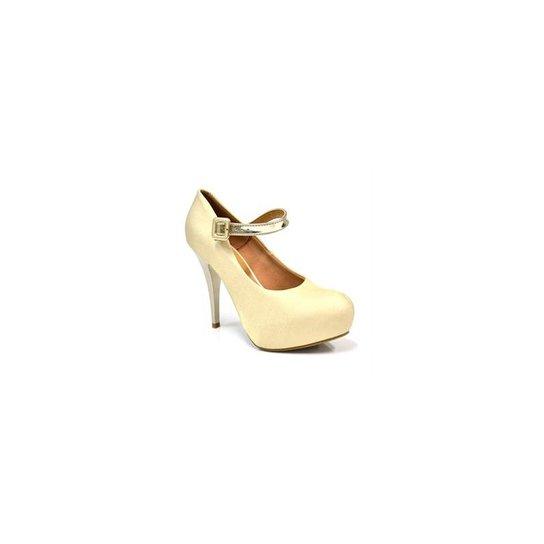 1f4772fb70 Sapato Boneca Vizzano - Dourado