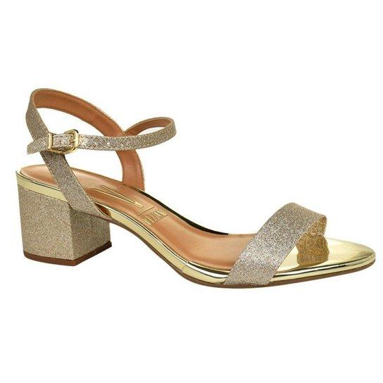 5c116b6ef Sandália Vizzano Glitter Feminina - Dourado - Compre Agora