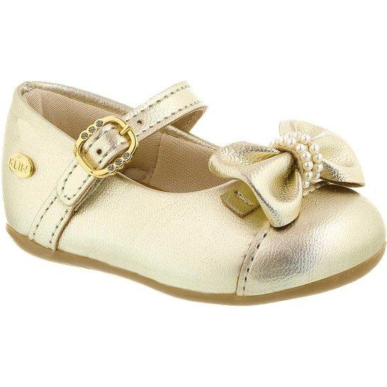 204b500d3 Sapatilha Infantil Klin Cravinho Princess Charming - Dourado