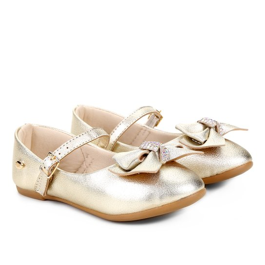 dd3092f7a Sapato Infantil Klin Princesa Feminino - Dourado - Compre Agora ...