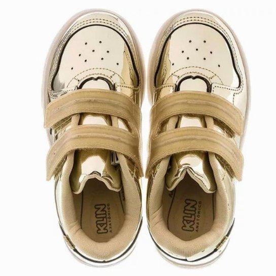 e2f434c02e Tênis Infantil Klin New Led Feminino - Dourado - Compre Agora