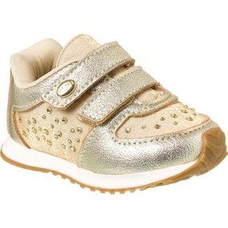 3a8f434dad Tênis Bebê Klin Mini Walk Strass Feminino