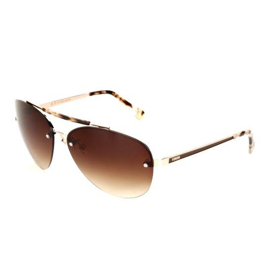 0388533ec8e6b Óculos de Sol Forum Dourado Marrom Masculino - Compre Agora