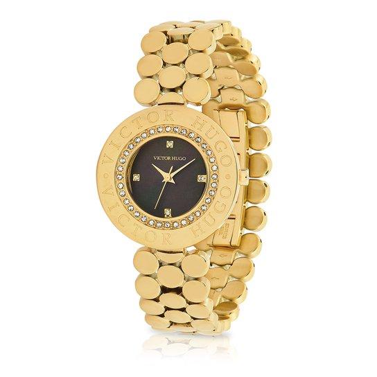 f527491a7 Relógio Victor Hugo Analógico 10135LSG/30M Feminino - Dourado