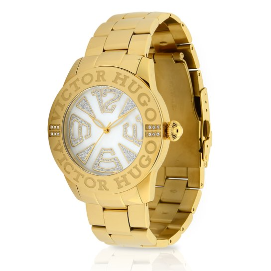 5fe936c6d Relógio Victor Hugo Analógico 10119LSG/28M Feminino - Dourado