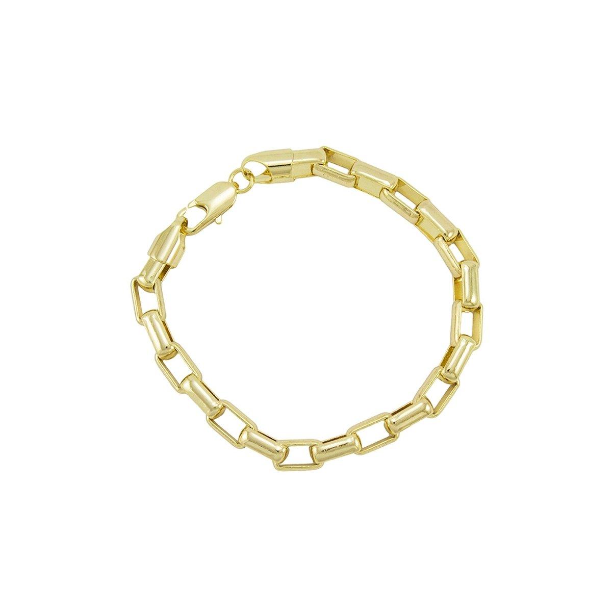6568fb91c66 Pulseira feminina de ouro 18k malha cartier com pedras rosas - Aubra Joias