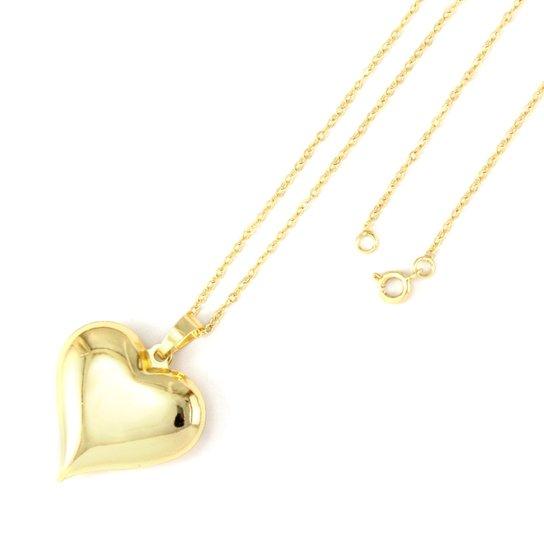 Gargantilha Tudo Jóias Coração Folheada A Ouro 18K - Compre Agora ... 3d3572a61a