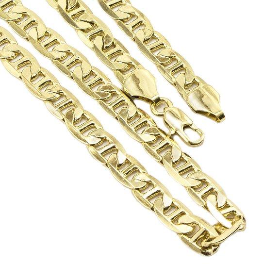 bfb9da358f7 Conjunto Tudo Joias Pulseira Com Corrente Cartier Folheado A Ouro 18K -  Dourado