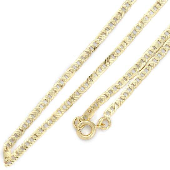29a5b8565f1 Corrente Tudo Joias Cartier Francês Folheado A Ouro 18K - Dourado ...