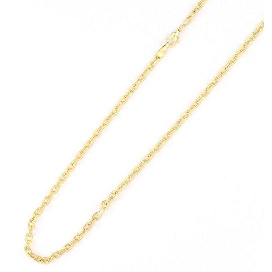 d178b7136a3 Corrente Tudo Joias Cartier Corte Diamantado Folheada A Ouro 18K - Dourado