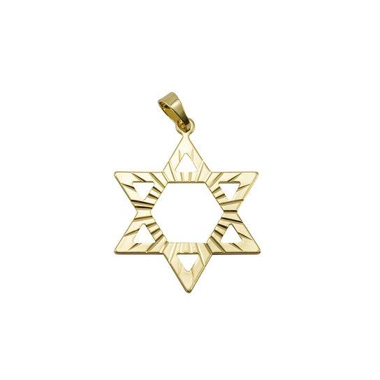 Pingente Estrela de Davi Tudo Joias Folheado a Ouro 18K - Dourado ... c9065ec292