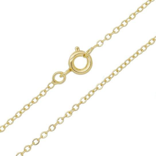 6f7c2faa677 Corrente Cartier Diamantado Tudo Joias Folheada a Ouro 18k Feminino -  Dourado