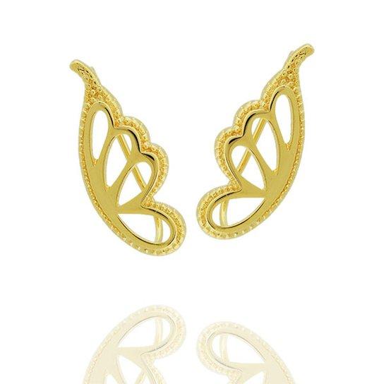 Brinco Ear Cuff Borboleta Semi Joia - Compre Agora   Zattini c083de76fc