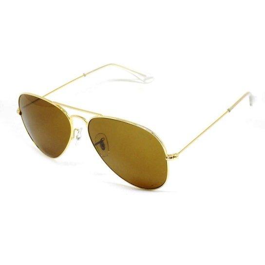 b121d330061ae Óculos De Sol Cannes 3025 T 58 C Aviador - Dourado - Compre Agora ...