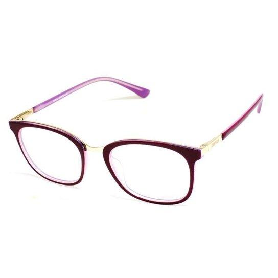f97352f451844 Armação De Óculos De Grau Feminino Cannes 2057 T 49 C Pink E - Dourado