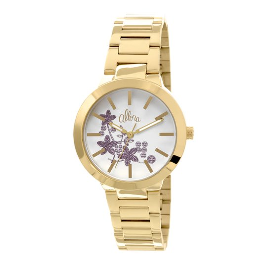 Relógio Allora Flores - Compre Agora   Zattini 8844370c58