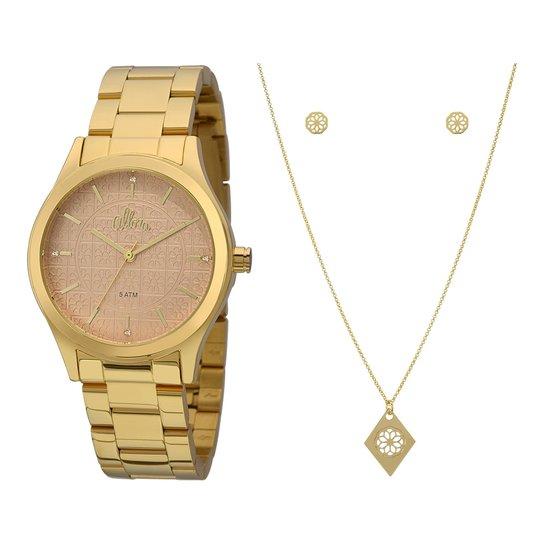 Kit Relógio Allora Feminino Flores Geométricas - Compre Agora   Zattini 0b74a6e094