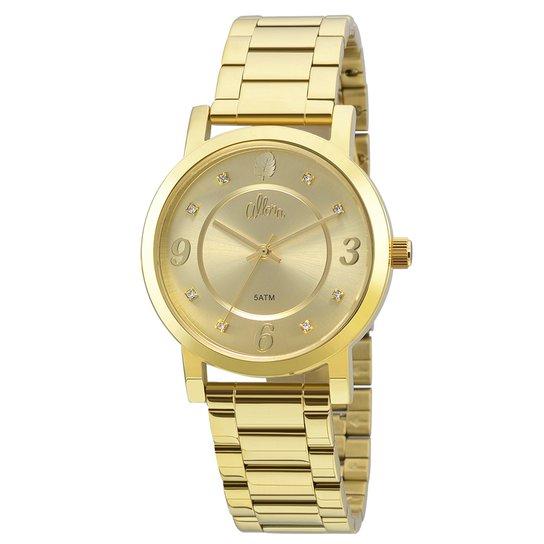 059893def04 Relógio Allora Feminino Folhagens - Compre Agora