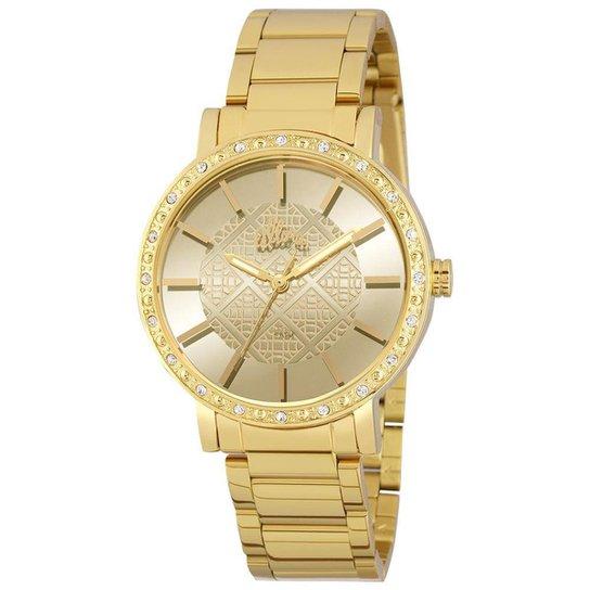 73a07b6acefc1 Relógio Allora Feminino Espelhados Geométricos - Dourado - Compre ...