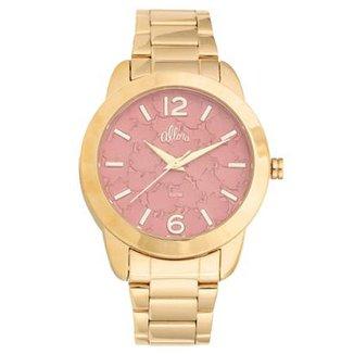86a883b912f Kit Relógio Feminino Allora Analógico Al2036fgt K4