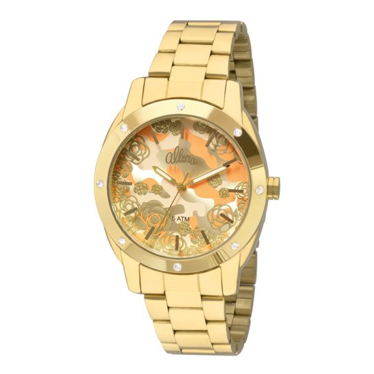 5524530bd72ea Relógio Allora Feminino Camoflower AL2036FFR 4L - AL2036FFR 4L - Dourado