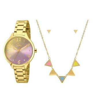 b94a1d8c8e1 Kit Relógio Allora Feminino Candy Colors AL2036CG K4G - AL2036CG K4G