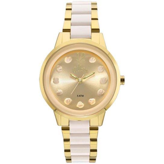 Relógio Allora Feminino Par Perfeito Flor Bicolor - AL2039AS K4B  AL2039AS K4B - Dourado 442f109593