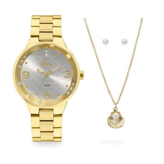 2465343439020 Relógio Allora Feminino Encanto da Sereia AL2035FHT K4K - Dourado  AL2035FHT K4K - Dourado