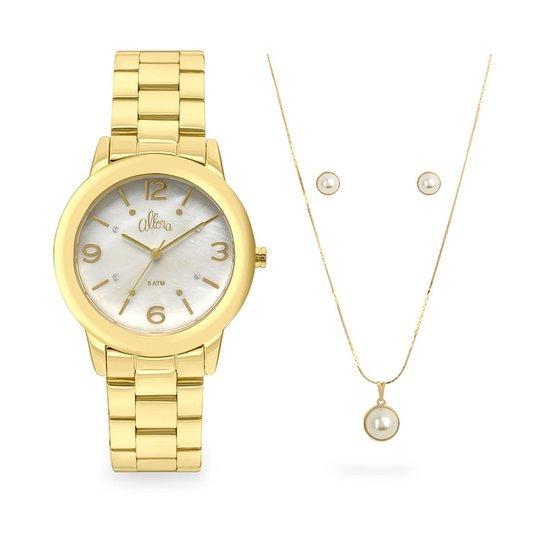 bd2f15b3853a0 Relógio Allora Feminino Encanto da Sereia AL2035FFU K4B - Dourado  AL2035FFU K4B - Dourado