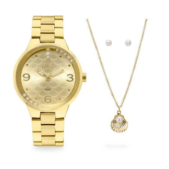 1fa87f6aec95f Relógio Allora Feminino Encanto da Sereia AL2035FHS K4X - Dourado  AL2035FHS K4X - Dourado