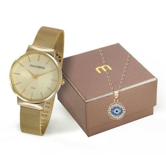 2f0970e7d Relógio Mondaine Feminino + Colar - Dourado - Compre Agora | Zattini