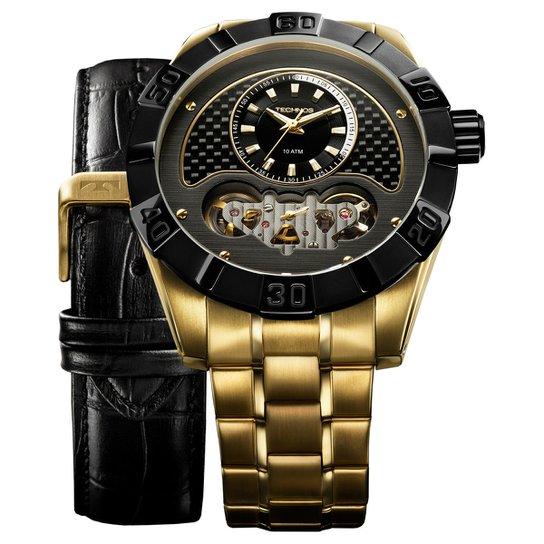 Relógio Technos Pulseira de Aço - Dourado - Compre Agora   Zattini bc4a497951