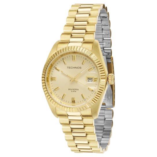 d29e6b31cce Relógio Technos Pulseira de Aço - Dourado - Compre Agora