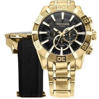 89b38c85e66 Relógio Technos OS2AAJ 4P   OS2AAJAC 4P 52mm com Pulseiras Adicionais