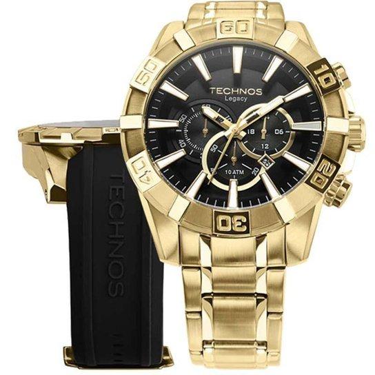 f0487bfea2208 Relógio Technos OS2AAJ 4P   OS2AAJAC 4P 52mm com Pulseiras Adicionais -  Dourado