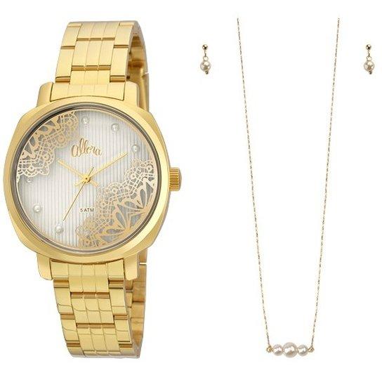 Kit Relógio Allora AL2035FGI K4K - Dourado - Compre Agora   Zattini 85a2e2d607