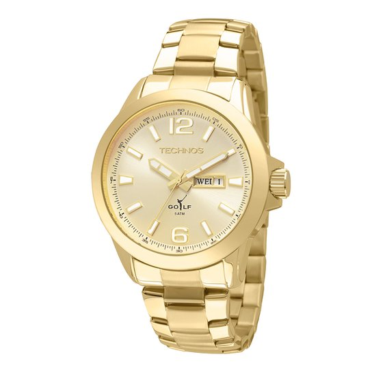 16a34f19a0a Relógio Technos Masculino 2105AU4X - Dourado - Compre Agora