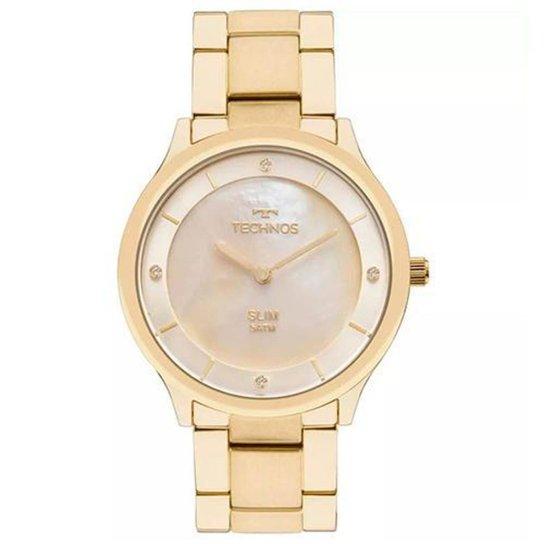 f554d67e5f6 Relógio Feminino Technos Ladies GL20HF 4X Pulseira Aço Dourada 40mm -  Dourado