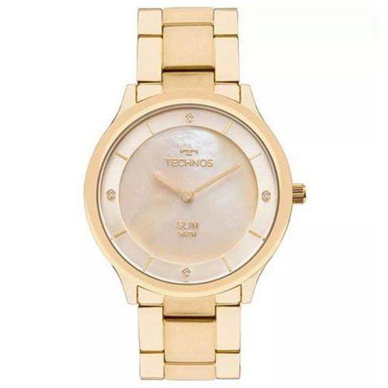 34ddbac818b Relógio Feminino Technos Ladies GL20HF 4X Pulseira Aço Dourada 40mm -  Dourado