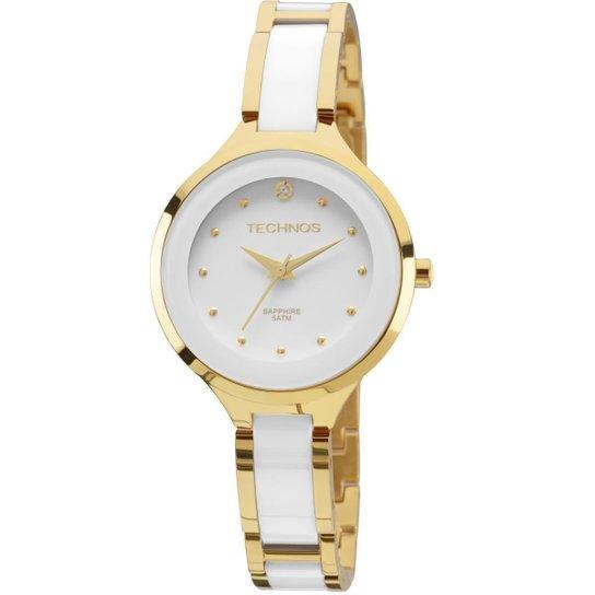 77bada12d75 Relógio Feminino Technos 2035LYW 4B Dourado Branco 36mm - Dourado ...