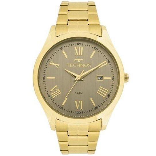 8fe608d8bc4 Relógio Feminino Technos Dress 2115MGM 4C 40mm Pulseira Aço Dourada -  Dourado
