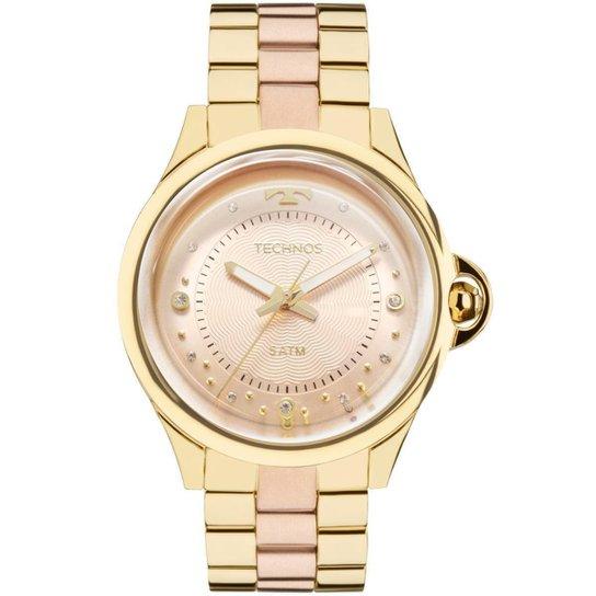 3c8e320f6 Relógio Feminino Technos 2039BL/4T Pulseira Aço Rose - Dourado ...