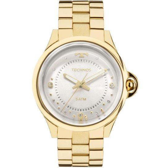 eef2e58258e Relógio Feminino Technos Crystal 2039BM 4K Pulseira Aço Dourada - Dourado